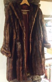 Real fur coats x2 vintage , brown , £20 for both