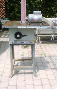 VINTAGE ROCKWELL/BEAVER 6201 TABLE SAW WITH STAND