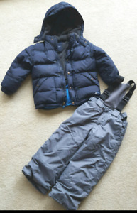 Gap down puffer and children's place snow pants size 5T