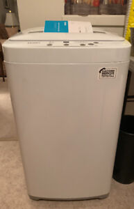 Haier 1.5 cu compact top load portable washer washer.