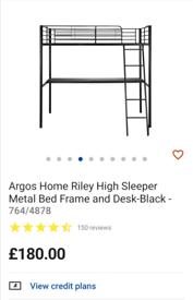 """High sleeper """"Argos"""" with desk"""