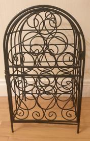 Black Metal Wine Cage