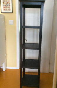 Beautiful designer black wood display tower
