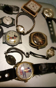 VINTAGE WIND UP WATCHES NOT WORKING