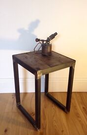 Industrial style side tables/lamp tables