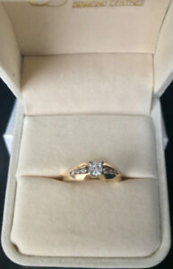 14k Yellow Gold, 0.25 Carat Engagement Ring size 6.5