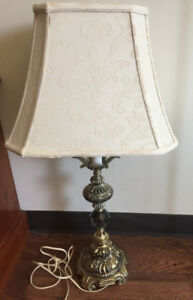 ONE ANTIQUE  BRONZE  TABLE LAMP FOR SALE