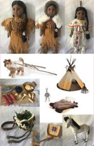 KAYA SET: American Girl Kaya Outfits, bed, pets, retired items