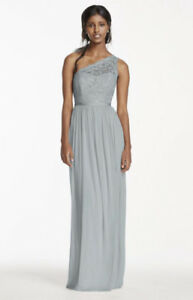 One shoulder black bridesmaid dress from David's Bridal NEW