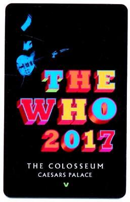**CAESARS PALACE casino*The Who 2017 super star rock band*NEW~Las Vegas key card