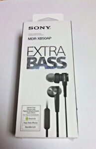 Sony MDR-XB50AP/B Extra Bass Earbud Headphones (NEW)(Sealed)