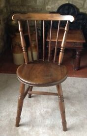 Solid Elm Antique Kitchen Chair - Great Condition!