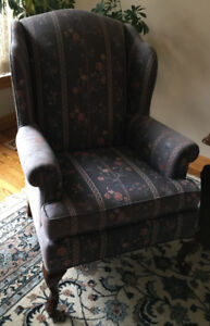 Vintage Pair Wingback Wing Back Chairs