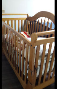 Solid wooden crib