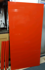 IKEA High gloss red dining table/computer table/office table/desk.