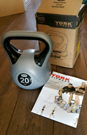 Kettlebell 20kg weights York Brand for home gym