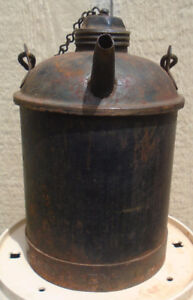 VINTAGE 1945's CNR GAS KEROSENE OIL CAN - CANADIAN NATIONAL RAIL