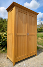 Large, solid beech wardrobe - super condition