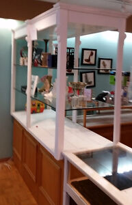 6 BEAUTIFUL OAK JEWELRY LED DISPLAY CABINETS - Price Reduced Stratford Kitchener Area image 5