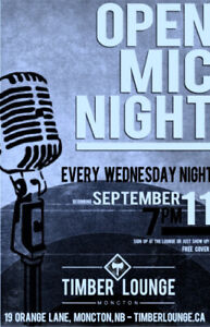 OPEN MIC NIGHT/EVERY WEDNESDAY /TIMBER LOUNGE