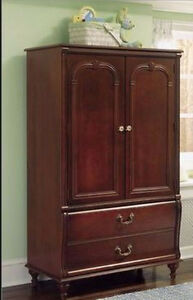 High Quality 4 Drawer Dresser+Change Station+Armoire+Bookshelf