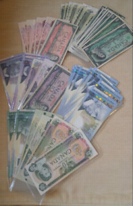 100 bills Canada.....some in excellent condition