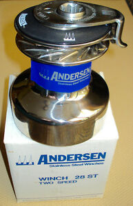 ANDERSEN 28 ST 2 speed SELF TAILING WINCH in Stainless Steel