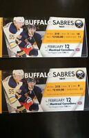 Montreal vs Buffalo Game Tomorrow Night!!  **Reduced!!