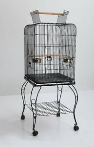 BRAND NEW Parrot/Bird Cage With Open Top & Stand for sale