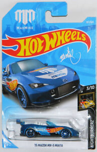 Hot Wheels 1/64 '15 Mazda MX-5 Miata Mad Mike Diecast Car
