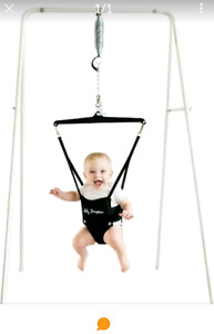 Baby jumper with stand and musical mat