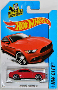 Hot Wheels 1/64 2015 Ford Mustang GT Diecast Car