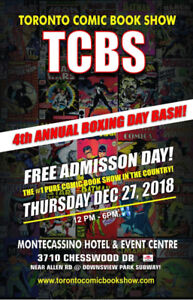 Dec 27 TCBS Comic Con Books Show - Free Entry! CGC Vintage
