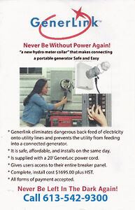 GenerLink  Power - Lowest Price Any Were on left  $1577.00 call Kingston Kingston Area image 3