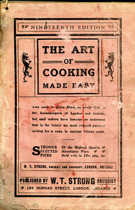 THE ART OF COOKING MADE EASY by W.T.Strong