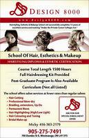Hair,Barber Makeup & Beauty Esthetics & Spa Management Courses