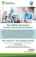 Earn While You Learn - Continuing Care Assistant