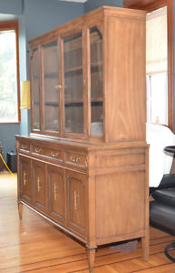 1960 dining Table and 2 piece Hutch
