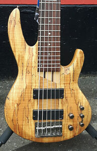 Used ESP LTD 6 String Bass Guitar Spalted Maple