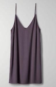 Aritzia Wilfred Free Vivienne Slip Dress in XS (Dark Grey) $30