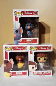Funko Pop Disney Pixar Ratatouille Set of 3 Remy Alfredo
