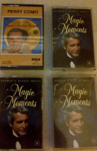 Older Male Singers Music Cassettes - all 36 together for $10.00