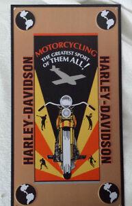 Affiche Harley Davidson authentique, en métal, 10$