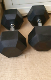 2 x 27.5kg weights