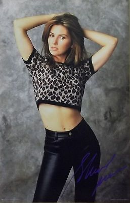 Shania Twain 23x35 Leopard Print & Leather Poster 1998