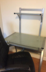 Two tier glass desk!