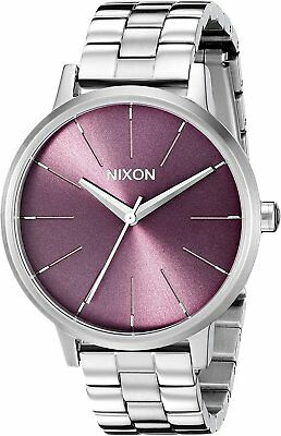 Nixon Women's A0992157 Kensington Purple Dial Stainless Steel Watch A099-2157-00