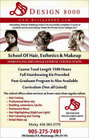 Hair and salon training and beauty certificate.