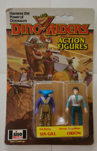 Dino Riders Action Figures Six-Gill / Orion 1987 by Tyco