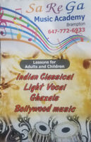 Music Vocals, Ghazals and Bollywood singing